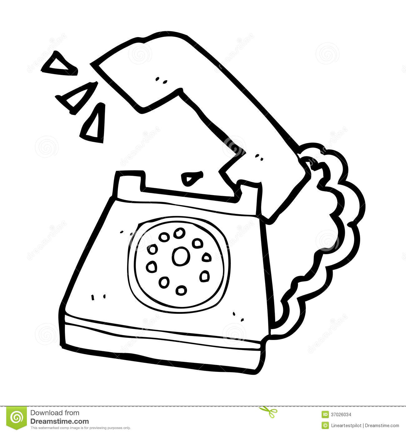 Telephone Clipart Black And White 3 Clipart Station