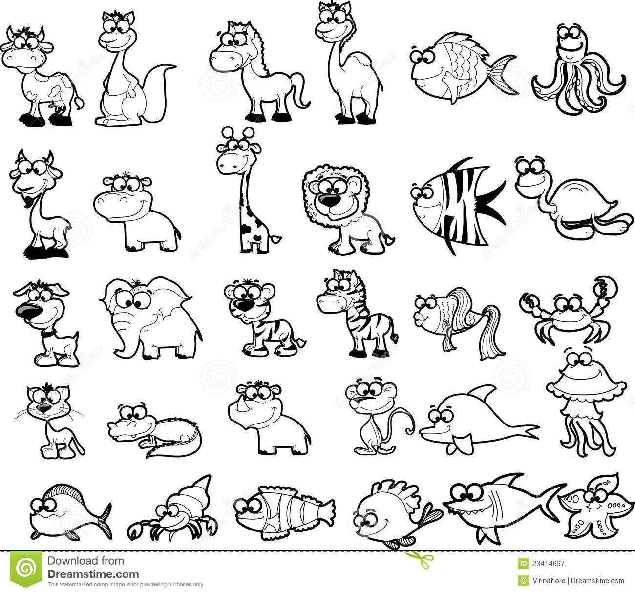 Zoo Animals Clipart Black And White 4 Clipart Station