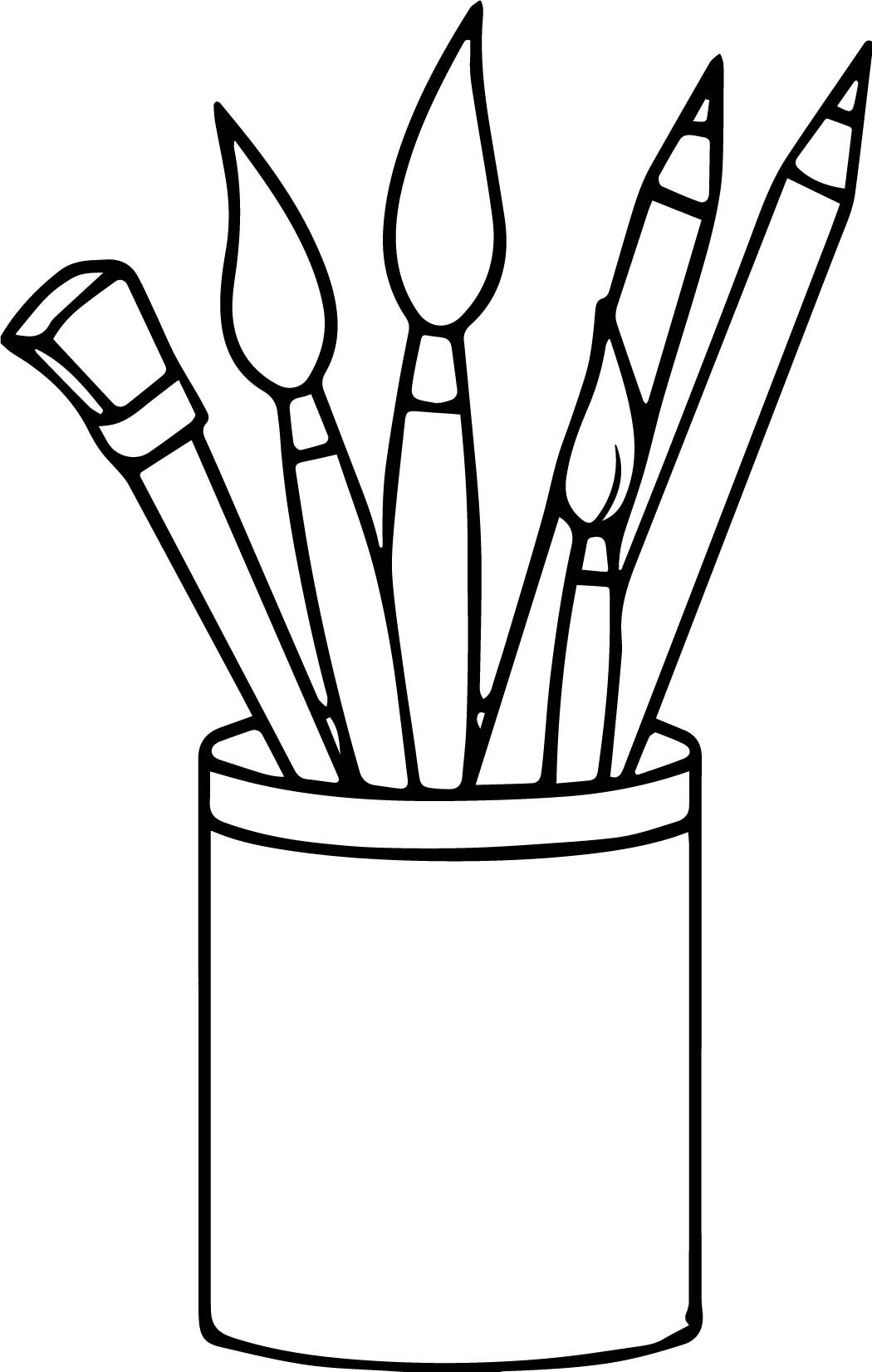Art Supplies Clipart Black And White Letters With Art