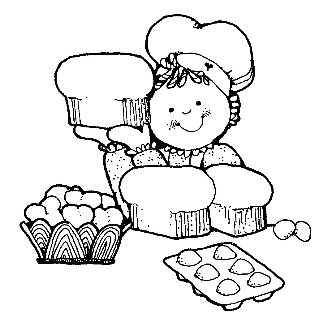 Baking Clipart Black And White