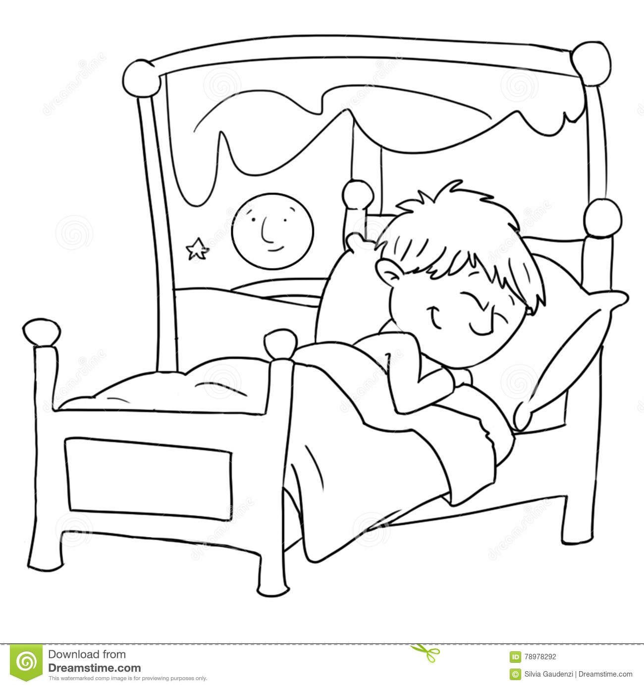 Child Sleeping Clipart Black And White Clipart Station