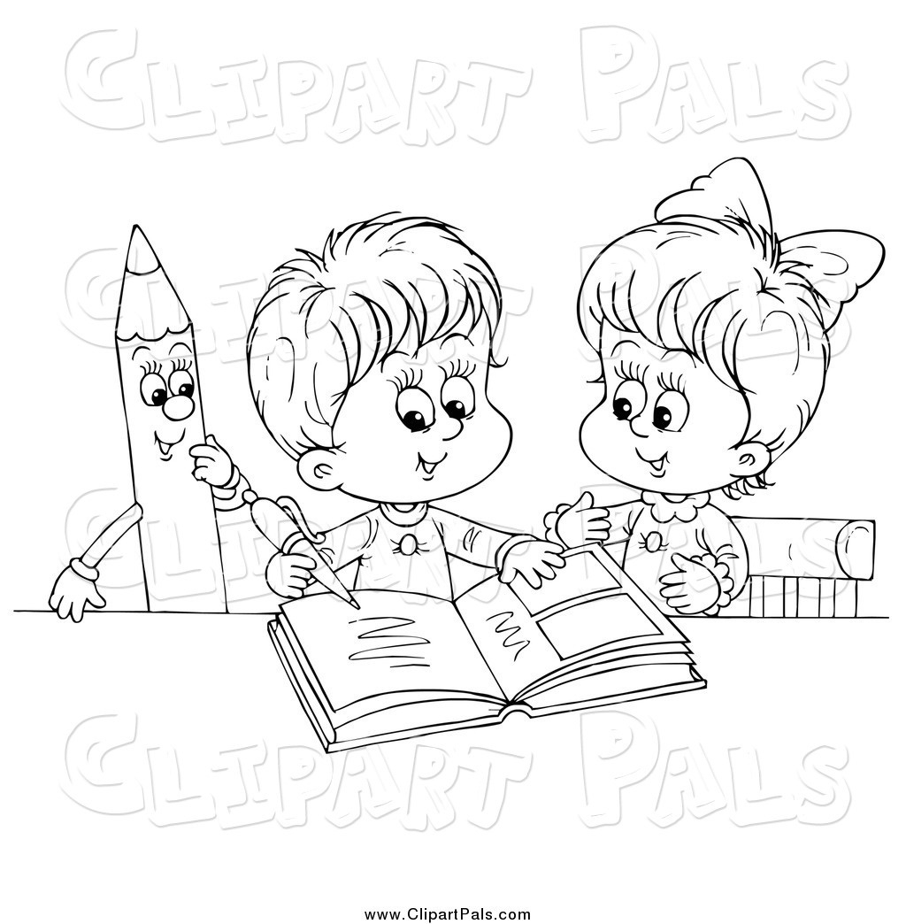 Child Writing Clipart Black And White Letters For Kids