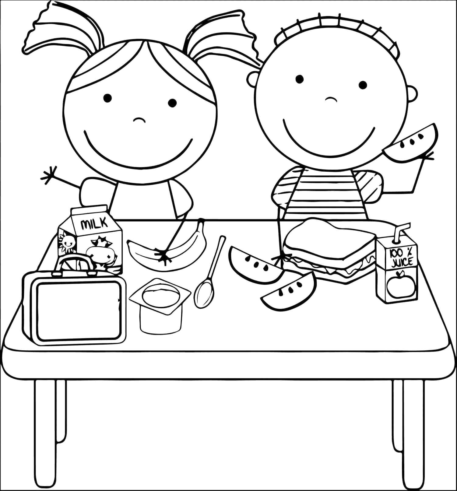 Eating Healthy Foods Clipart Black And White 6 Clipart