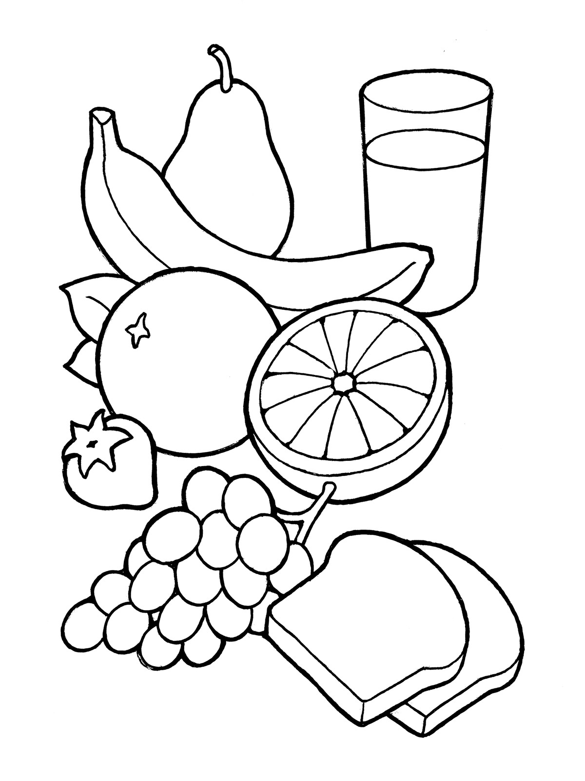 Healthy Foods Clipart Black And White 6 Clipart Station