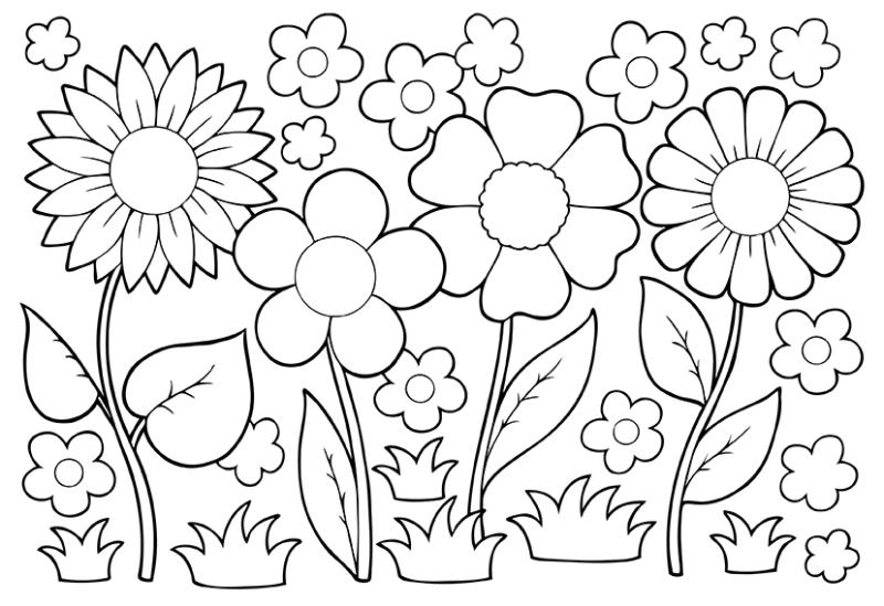 may flowers clip art black and white april showers bring