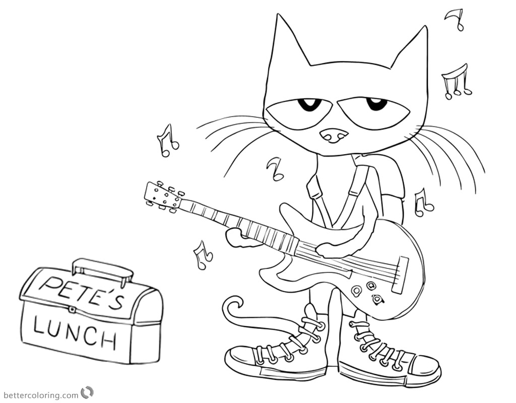 Pete The Cat Clipart Black And White 3 Clipart Station