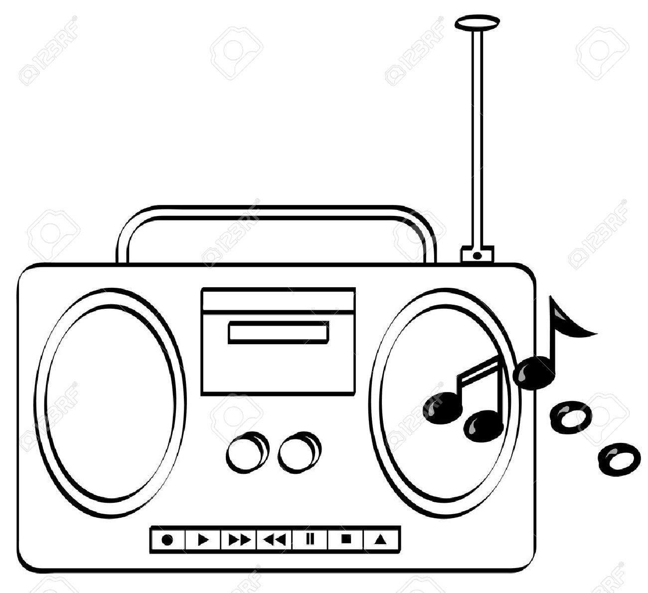 Radio Clipart Black And White 5 Clipart Station