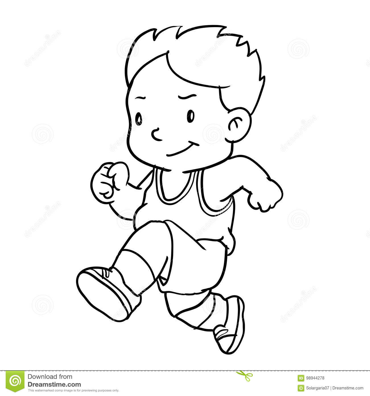 Running Clipart Black And White 2 Clipart Station
