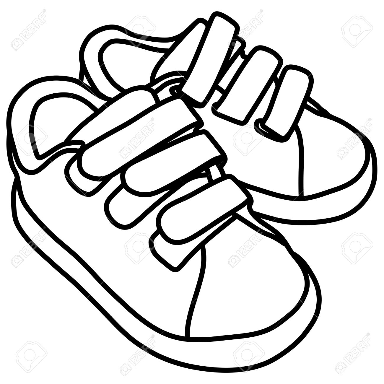 School Shoes Clipart Black And White 1 Clipart Station