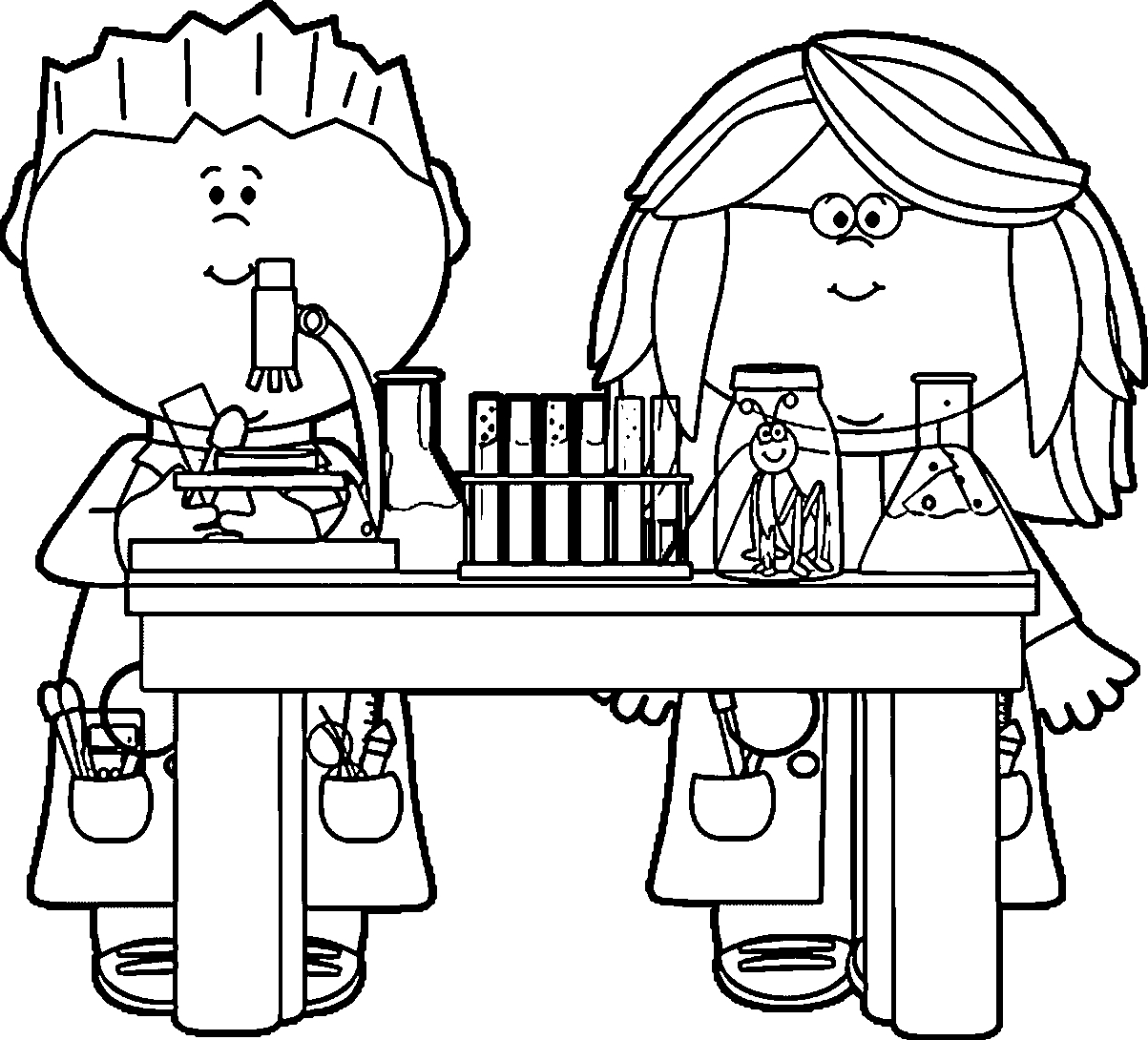 Science Clipart Black And White Best Of Science Cliparts