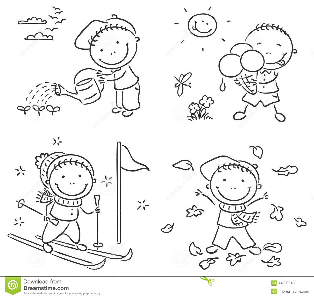 Seasons Clipart Black And White 6 Clipart Station