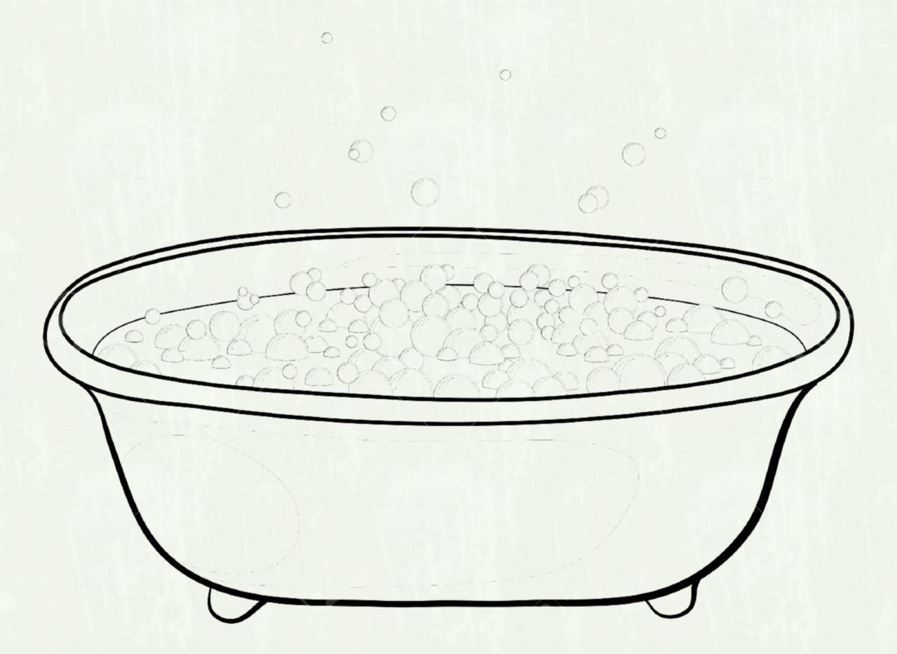 Tub Black And White Clipart 4 Clipart Station