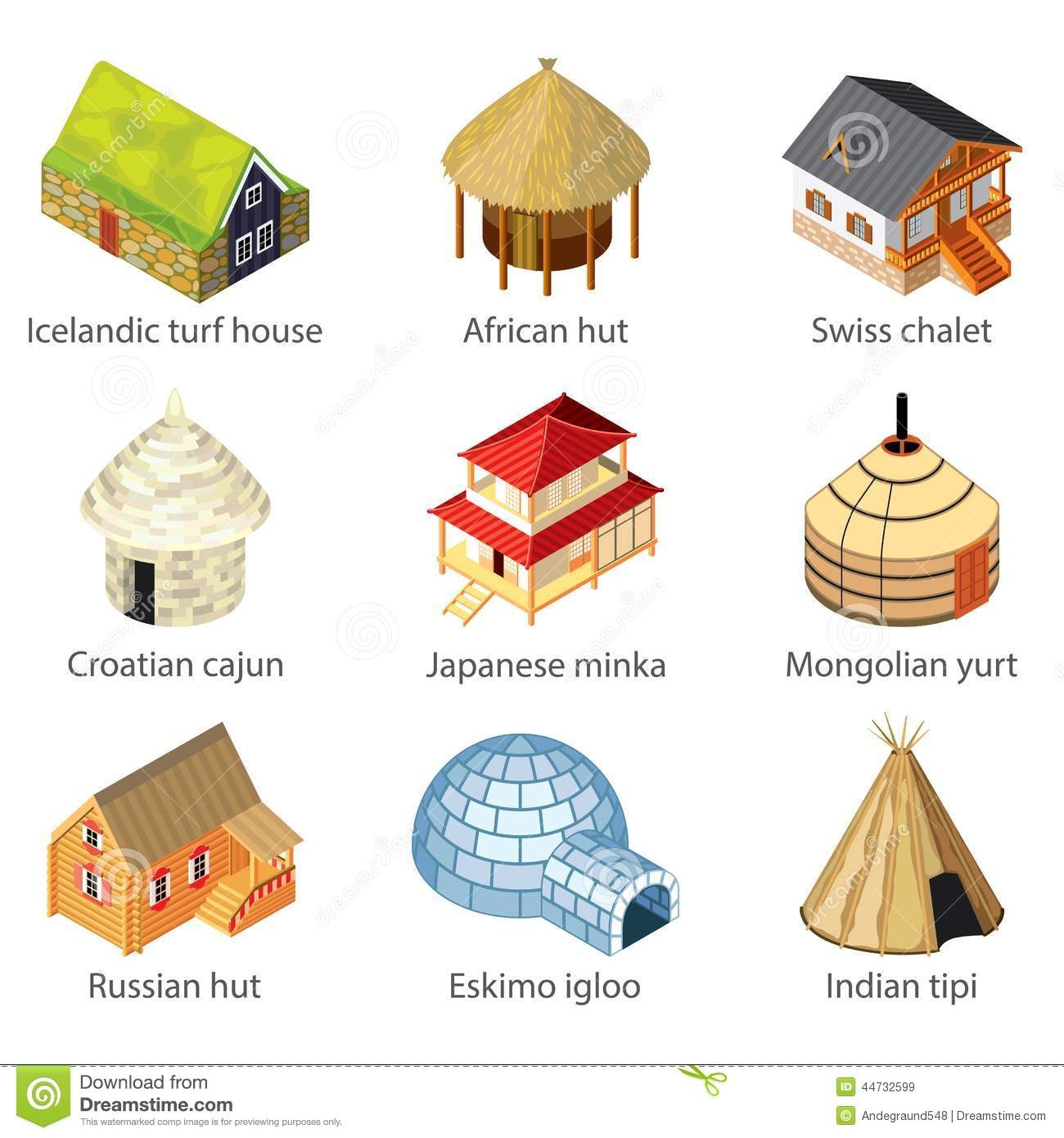 Types Of Houses Clipart 3 Clipart Station