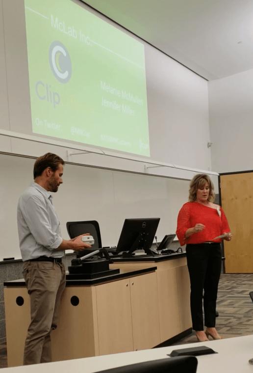 Melanie & TJ presenting at MN CUP