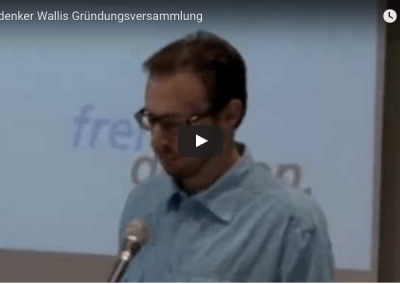 Aufzeichnung der Gründungsversammlung FVS Wallis