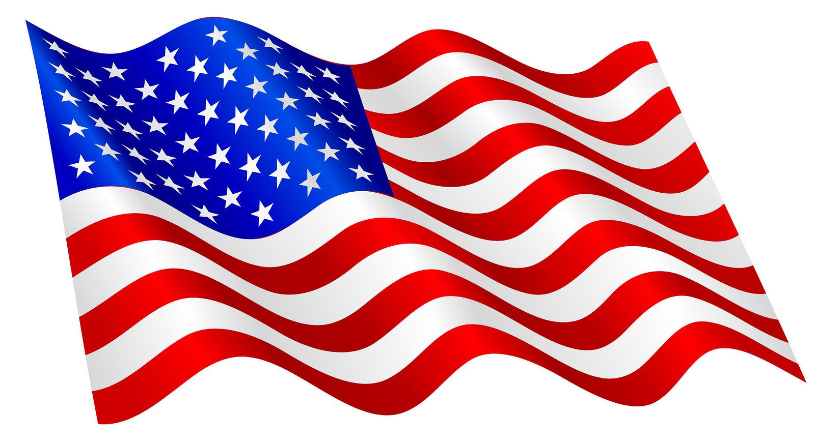 Flowing American Flag Clipart