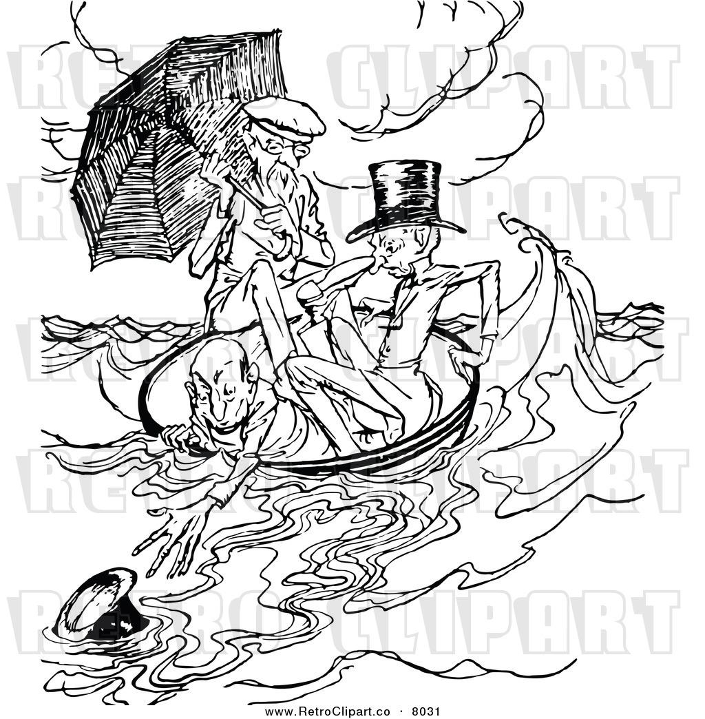 3 Men In A Boat Clipart