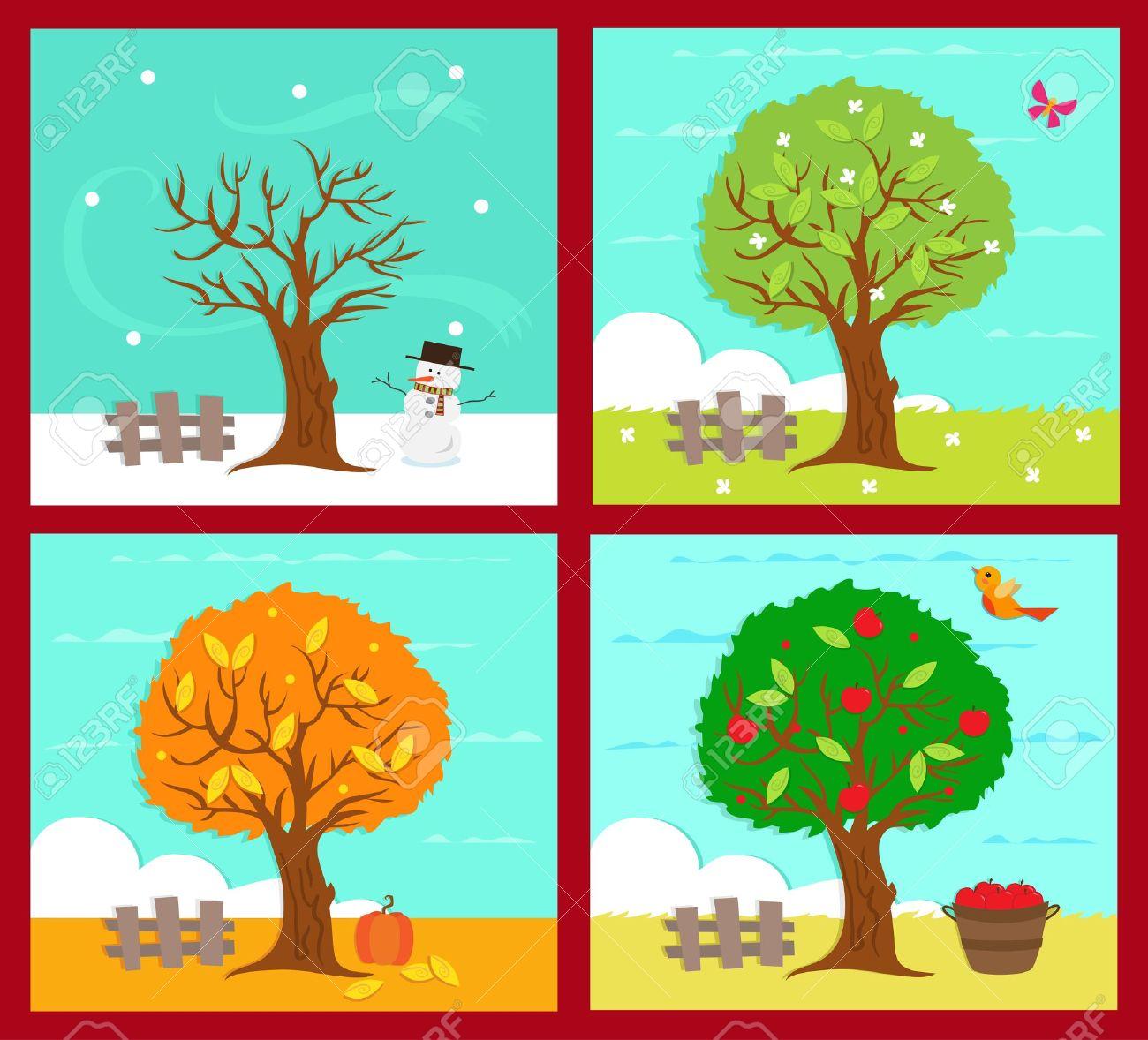 4 Seasons Clip Art 20 Free Cliparts