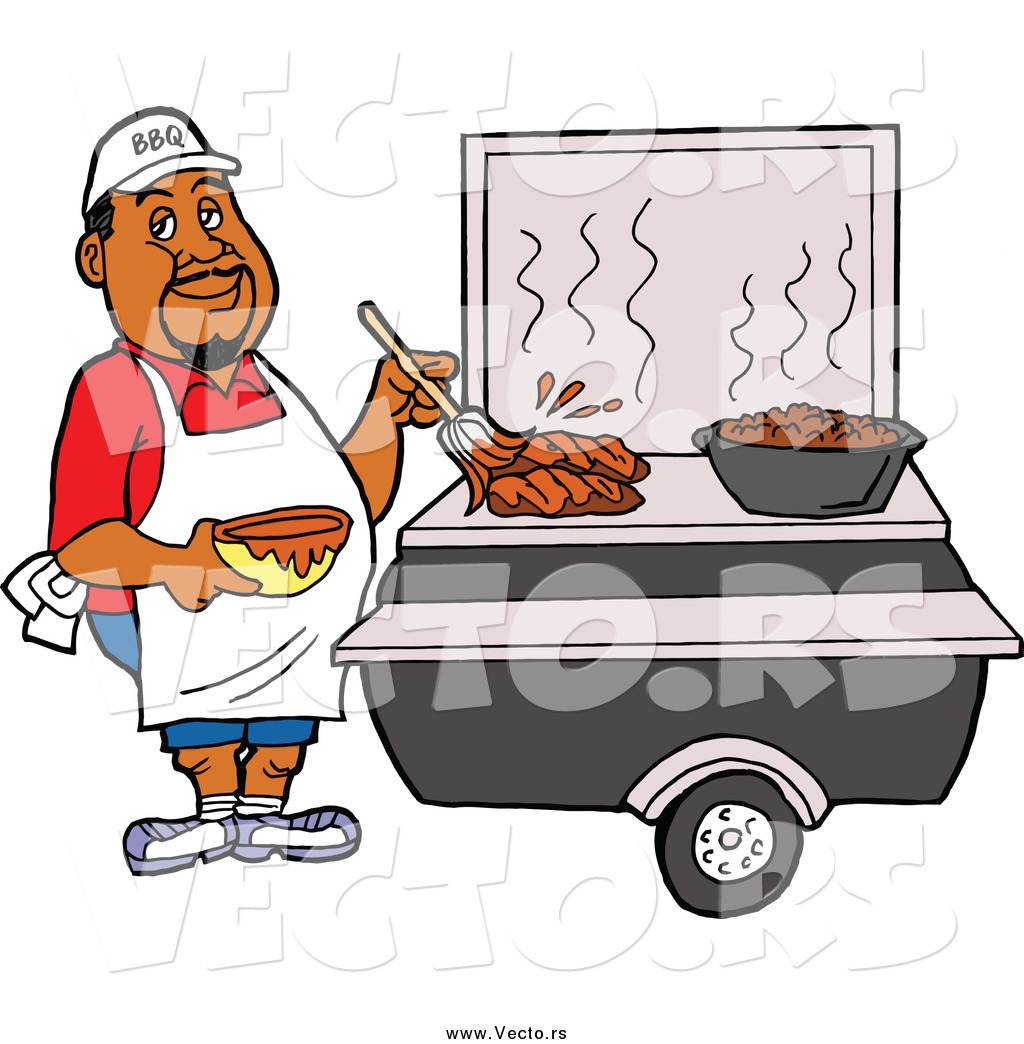 African American People Grilling Clipart Transparent Background