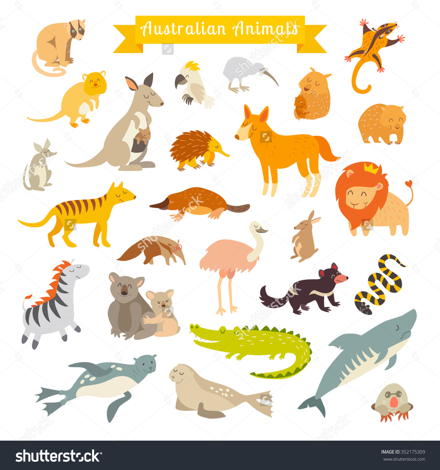 Wildlife Australia Clipart