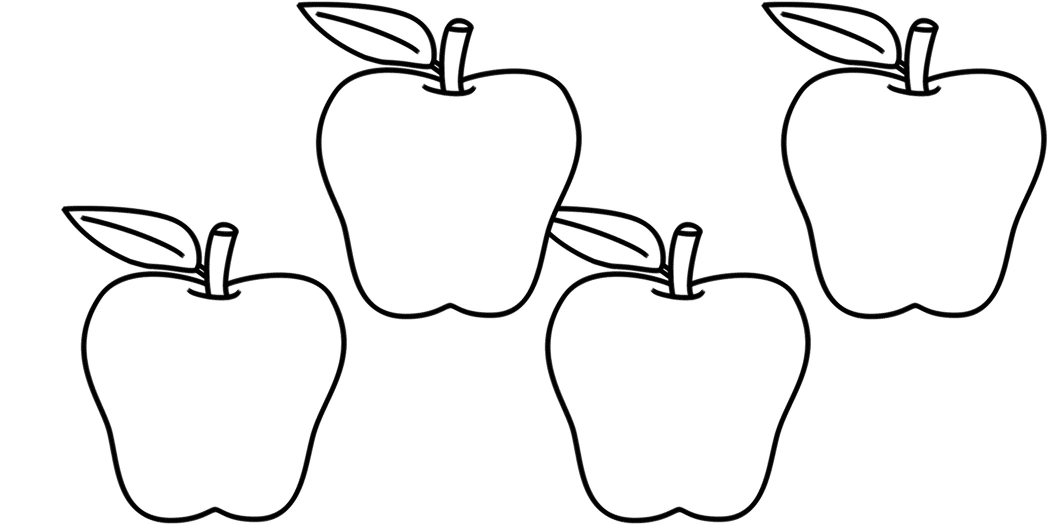 Apples Clipart Black And White 20 Free Cliparts