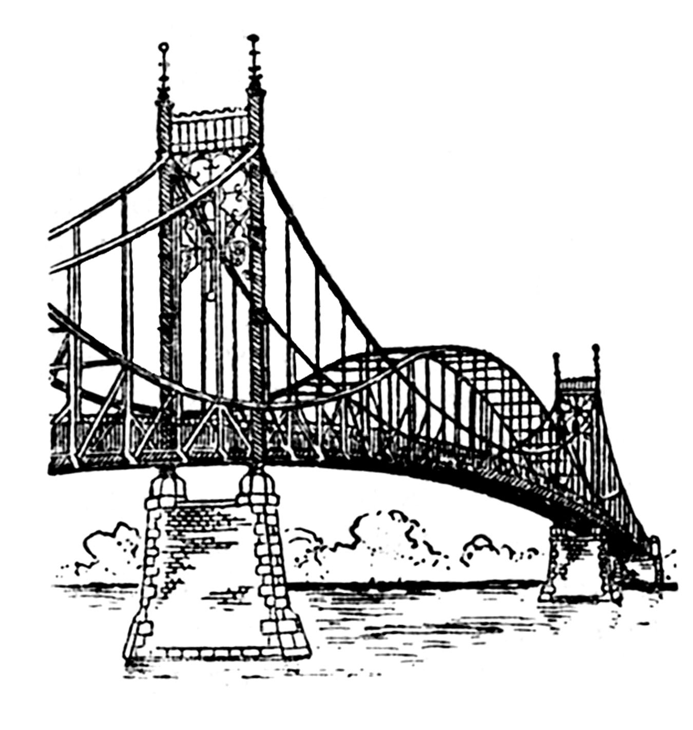 Steel Bridge Clipart
