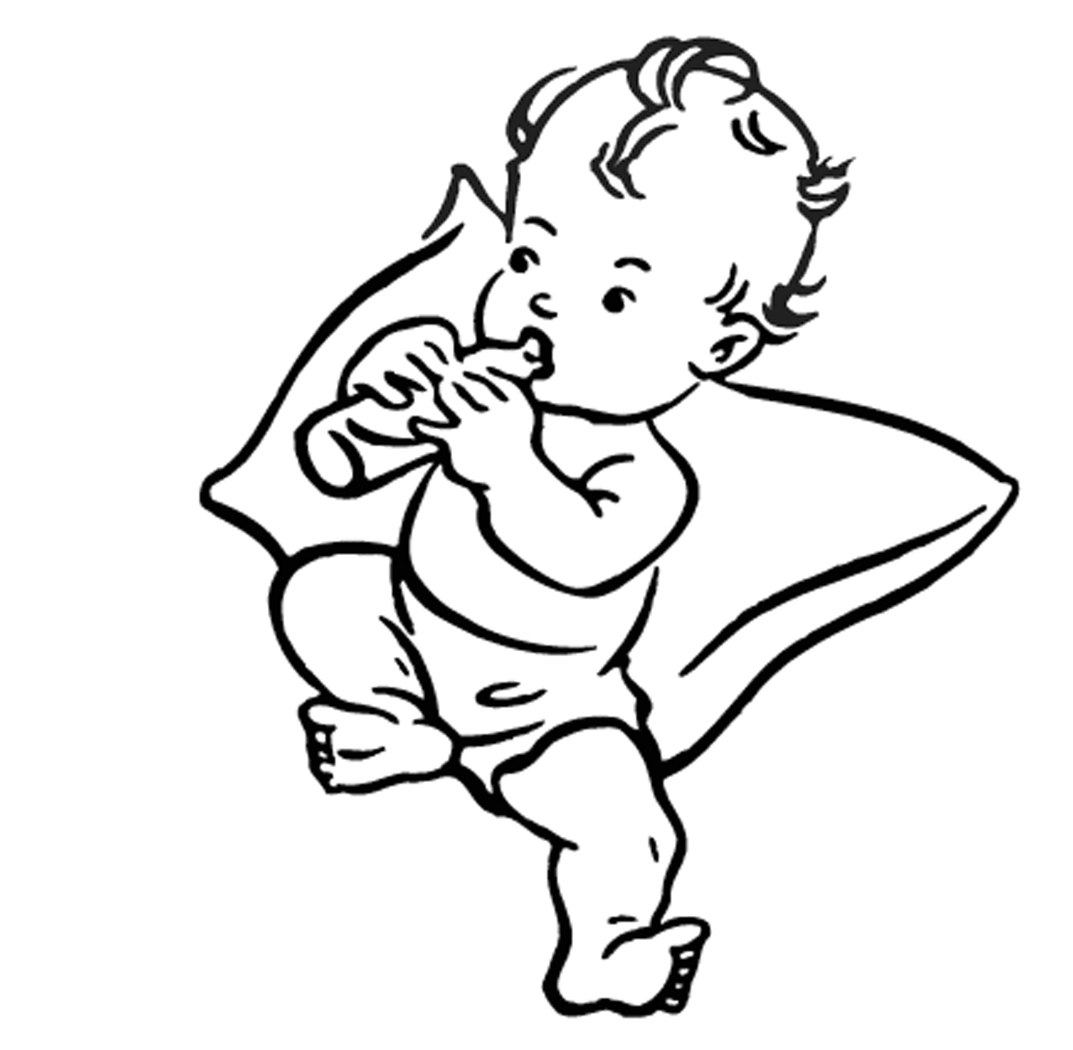 Baby Boy Shower Black And White Clipart