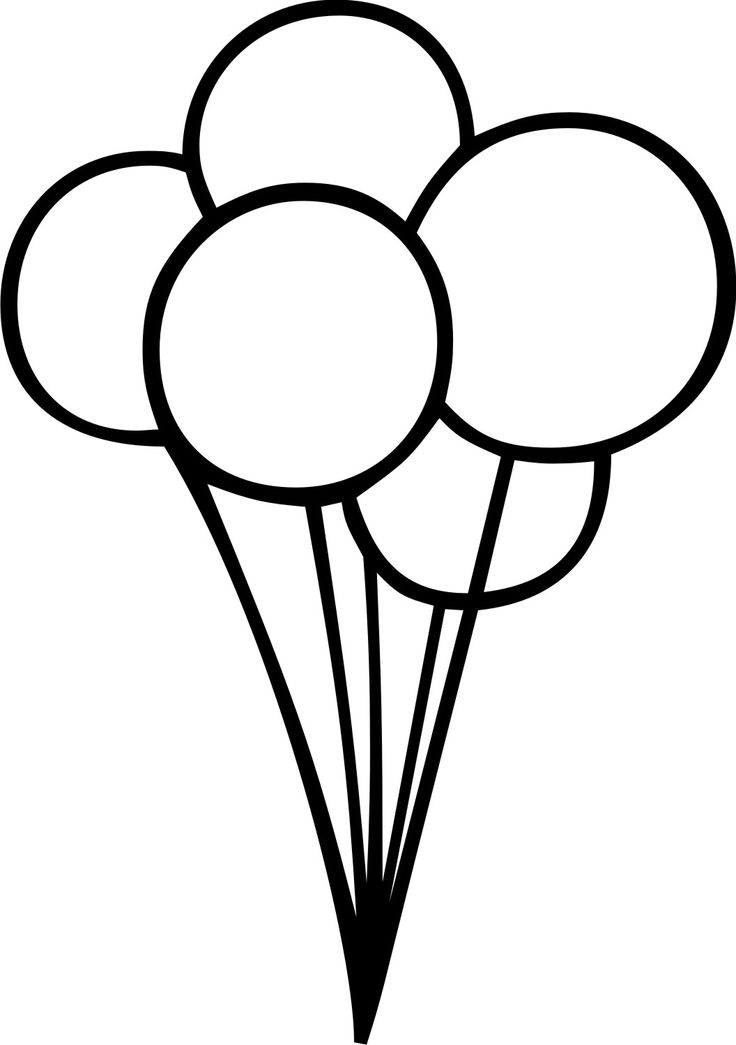 Ballon Outline Clipart Black And White Clipground