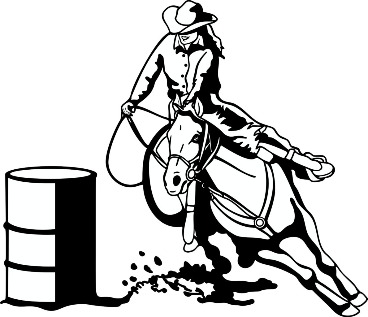 Barrel Racing Clipart
