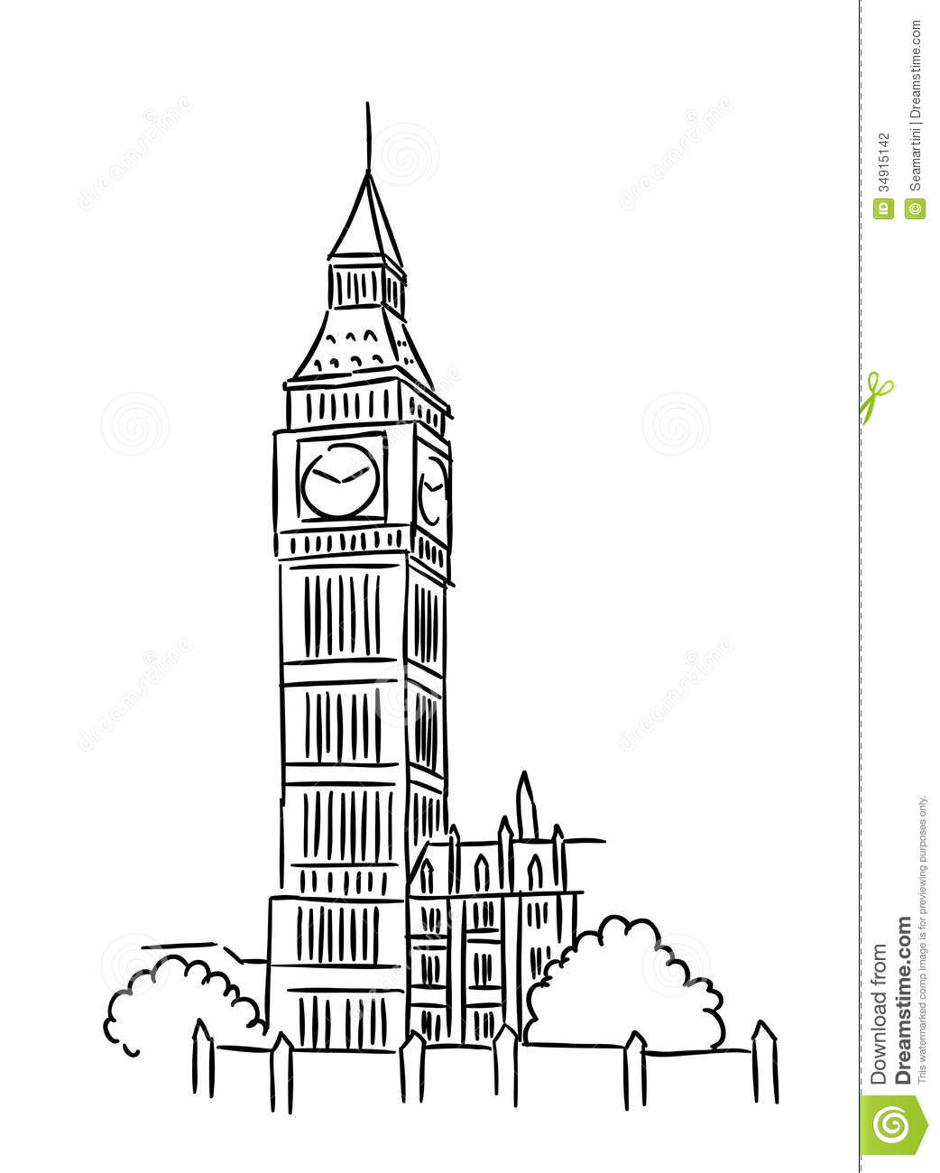London Tower Clipart