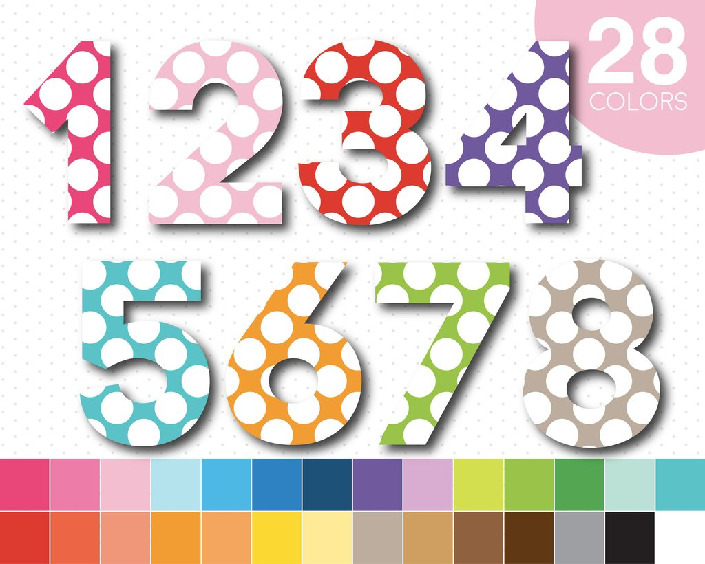 Big Polka Dot Clipart Of The Number 1