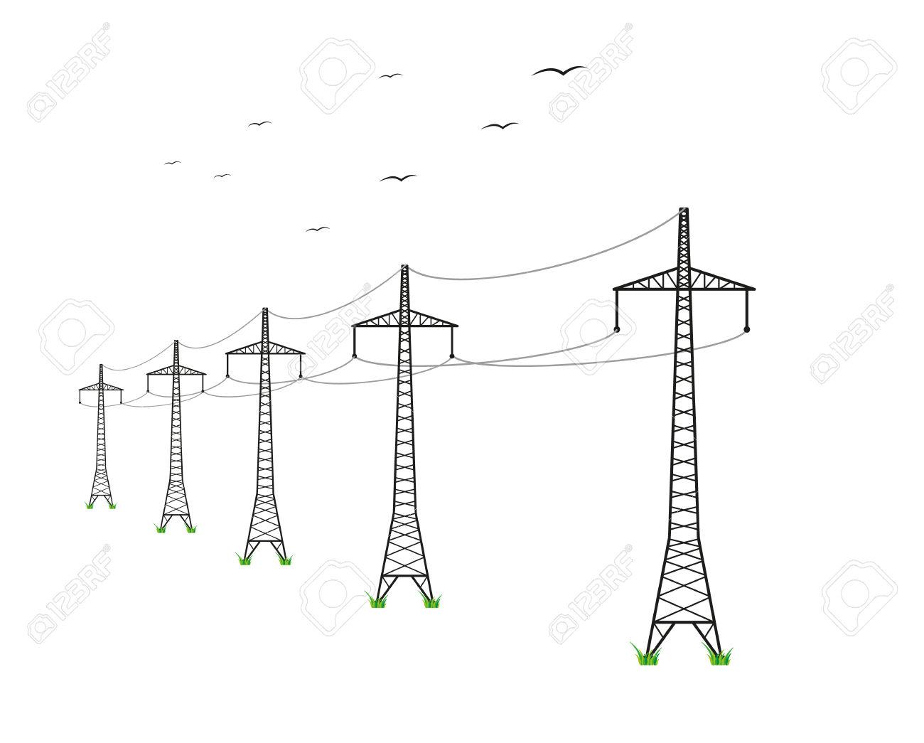 High Voltage Line Clipart