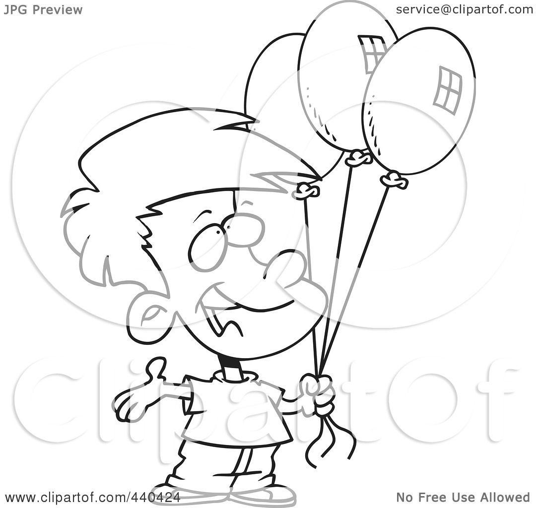 Birthday Boy Outline Clipart