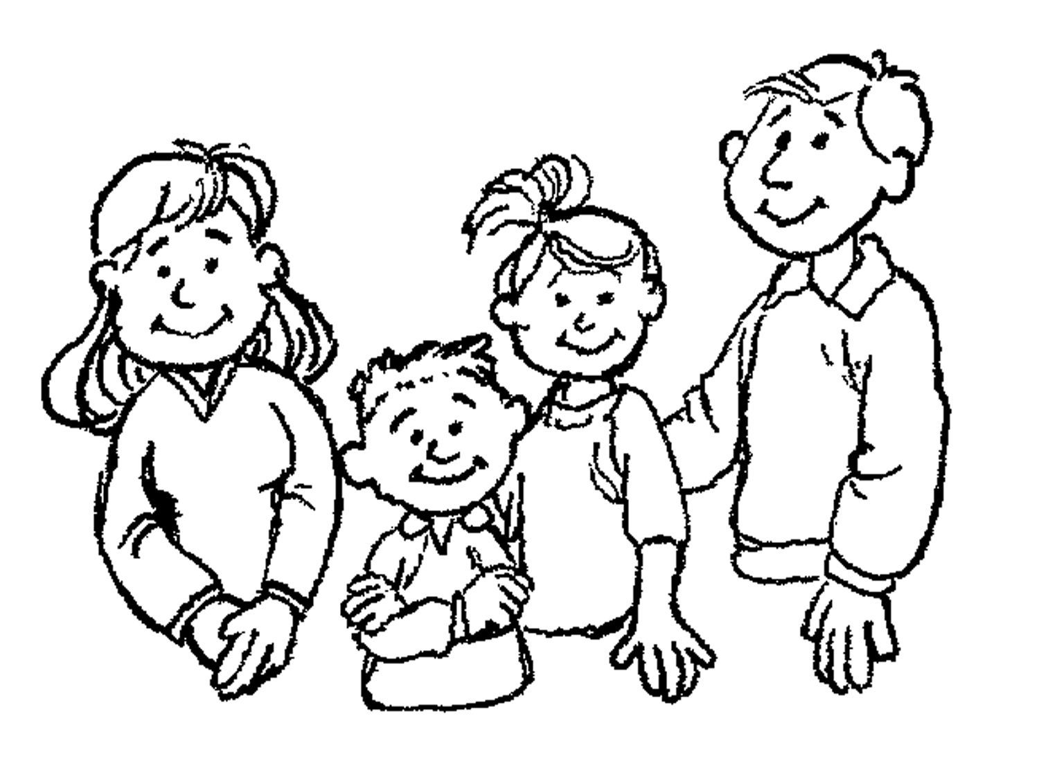 Members Of The Family Clipart Black And White 20 Free