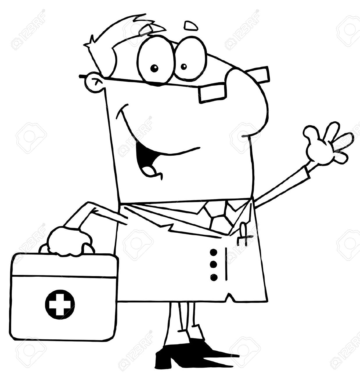 Black And White Doctor Clipart