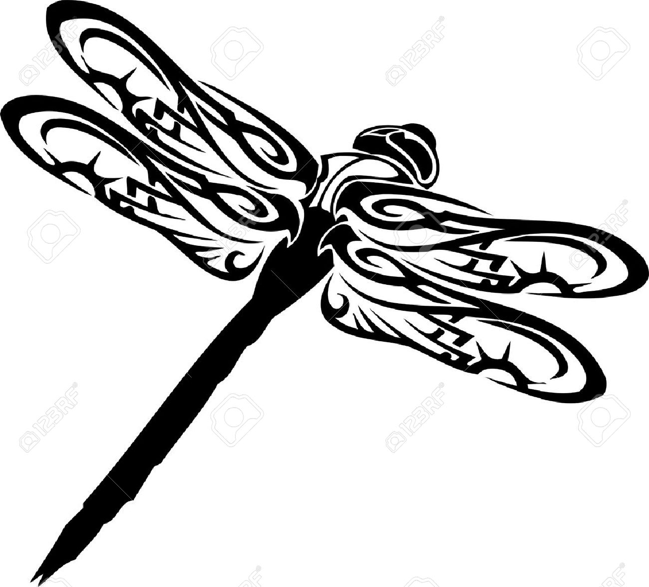 Black And White Dragonfly Silhouette Clipart Free 20 Free