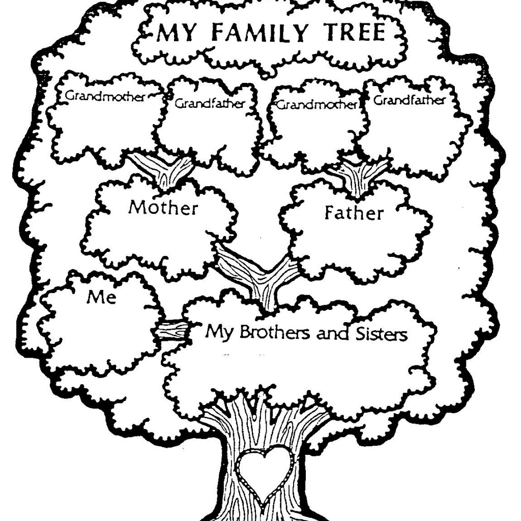 Black And White Family Tree Clipart 20 Free Cliparts