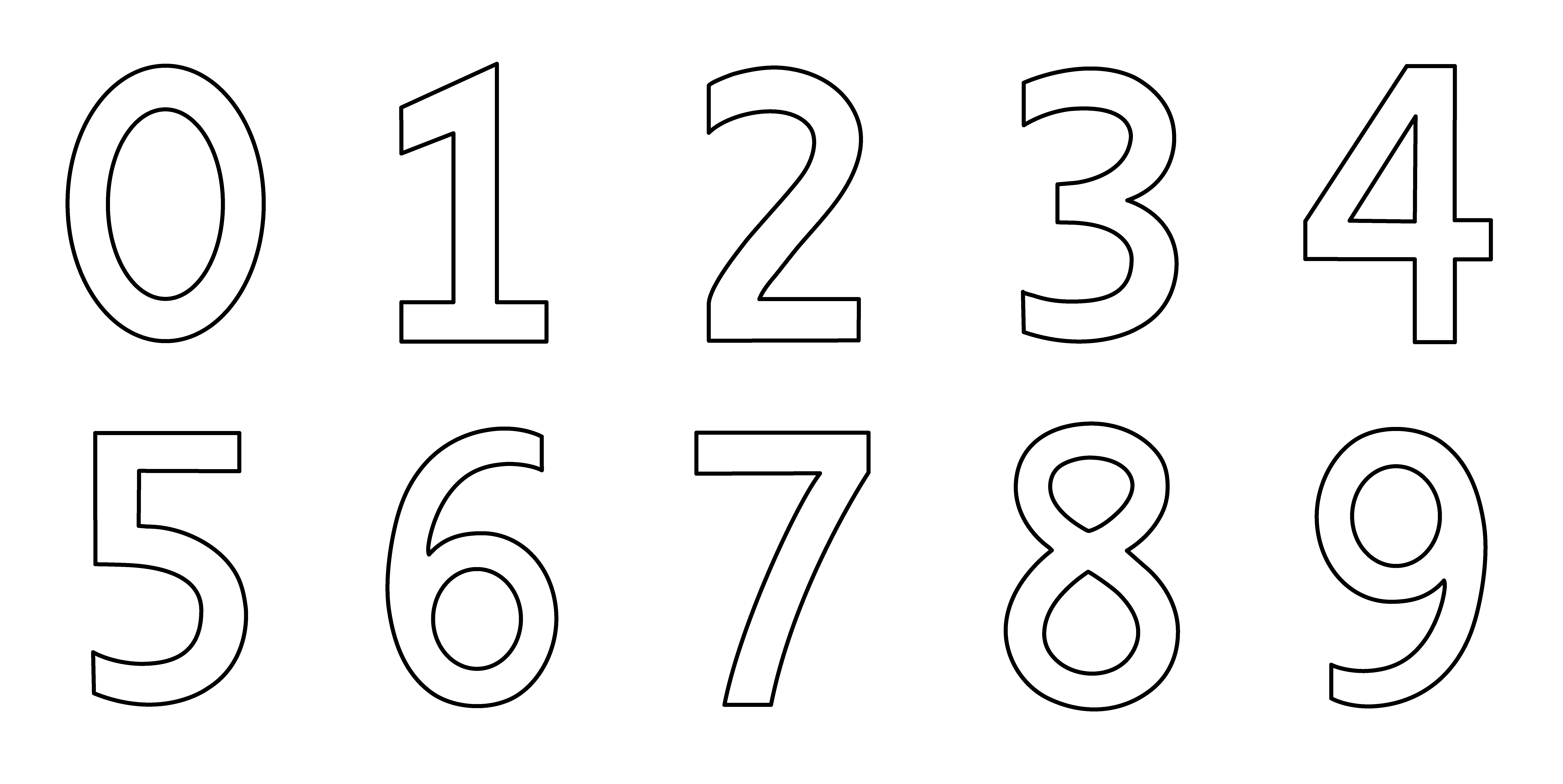 Black And White Numbers Clipart 20 Free Cliparts