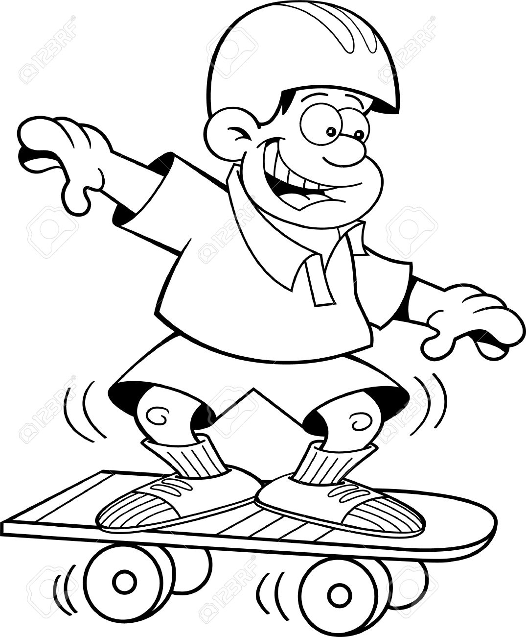 Black And White Skateboard Clipart 10 Free Cliparts