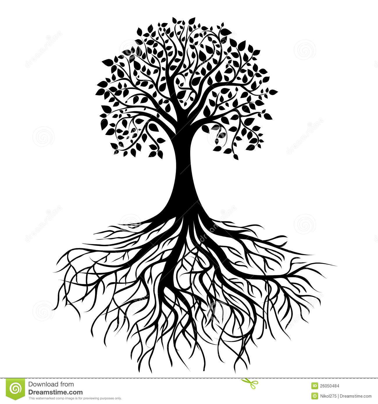 Black Roots Clipart