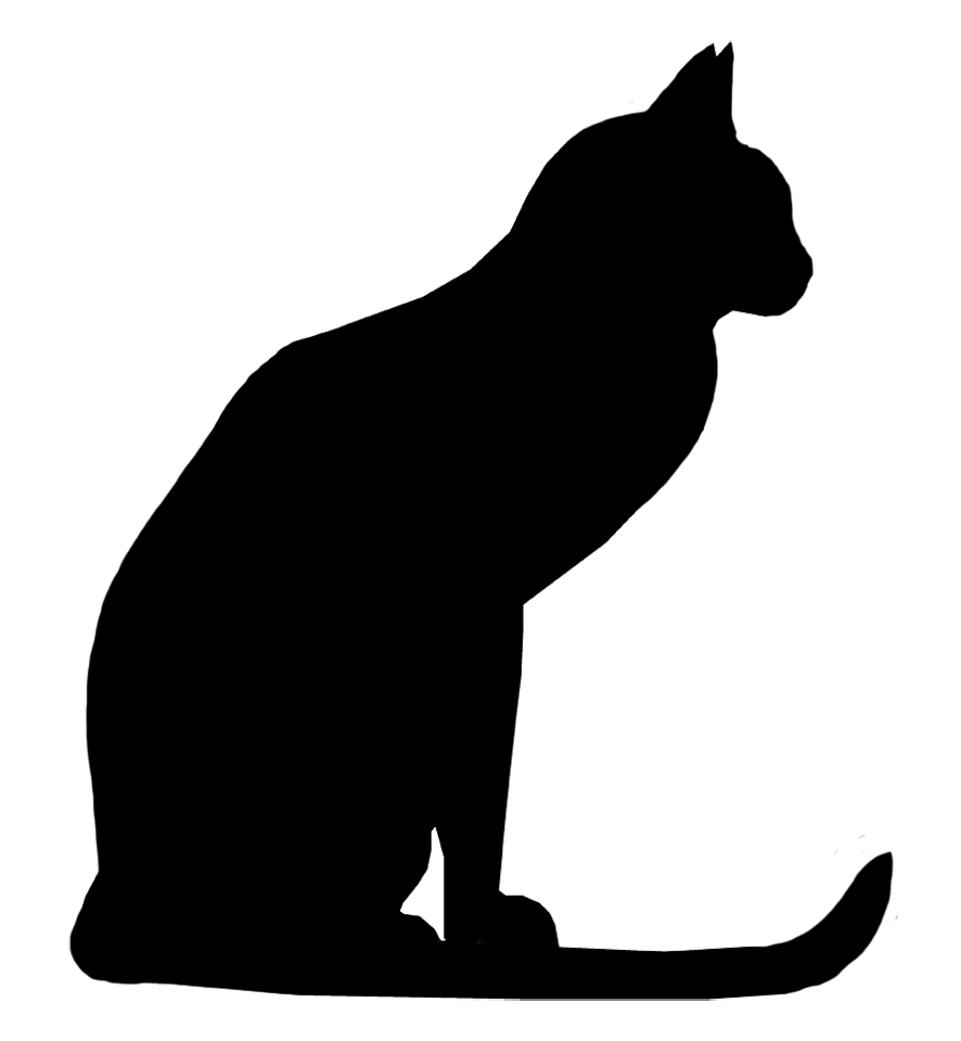 clipart of cat silhouette - Clipground (886 x 960 Pixel)