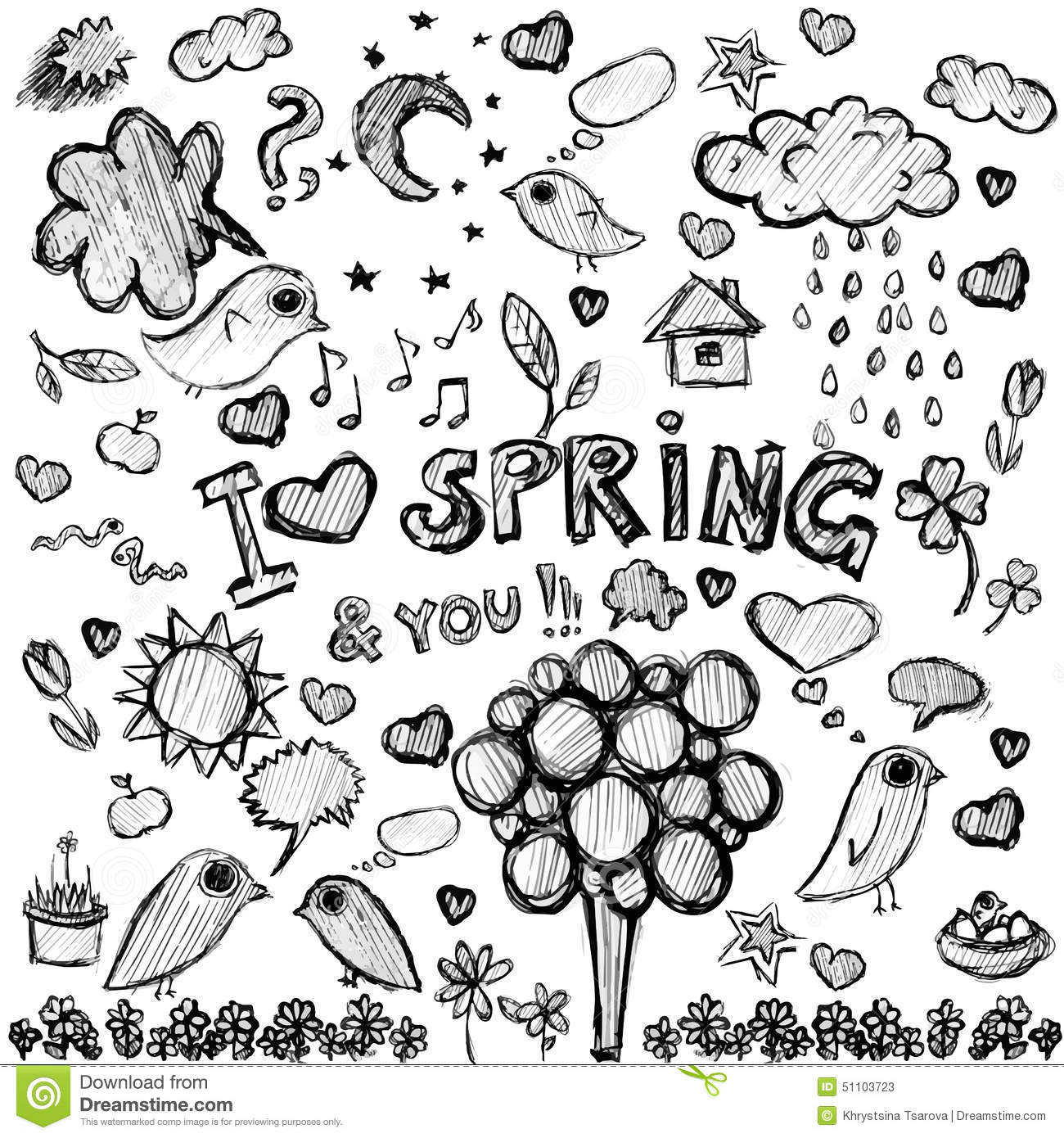 Black Spring Clipart 20 Free Cliparts