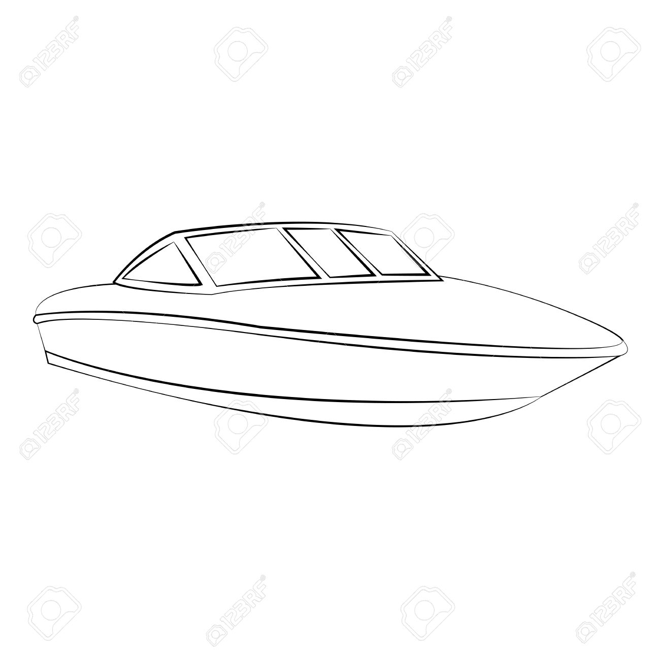 Boat Outline Clipart