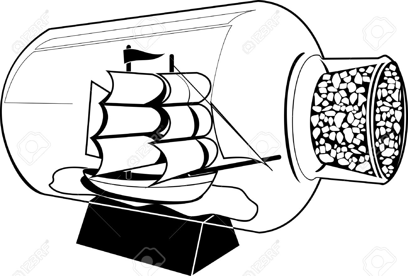 Ship In A Bottle Clipart