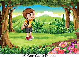 Boy In Forest Clipart Clipground