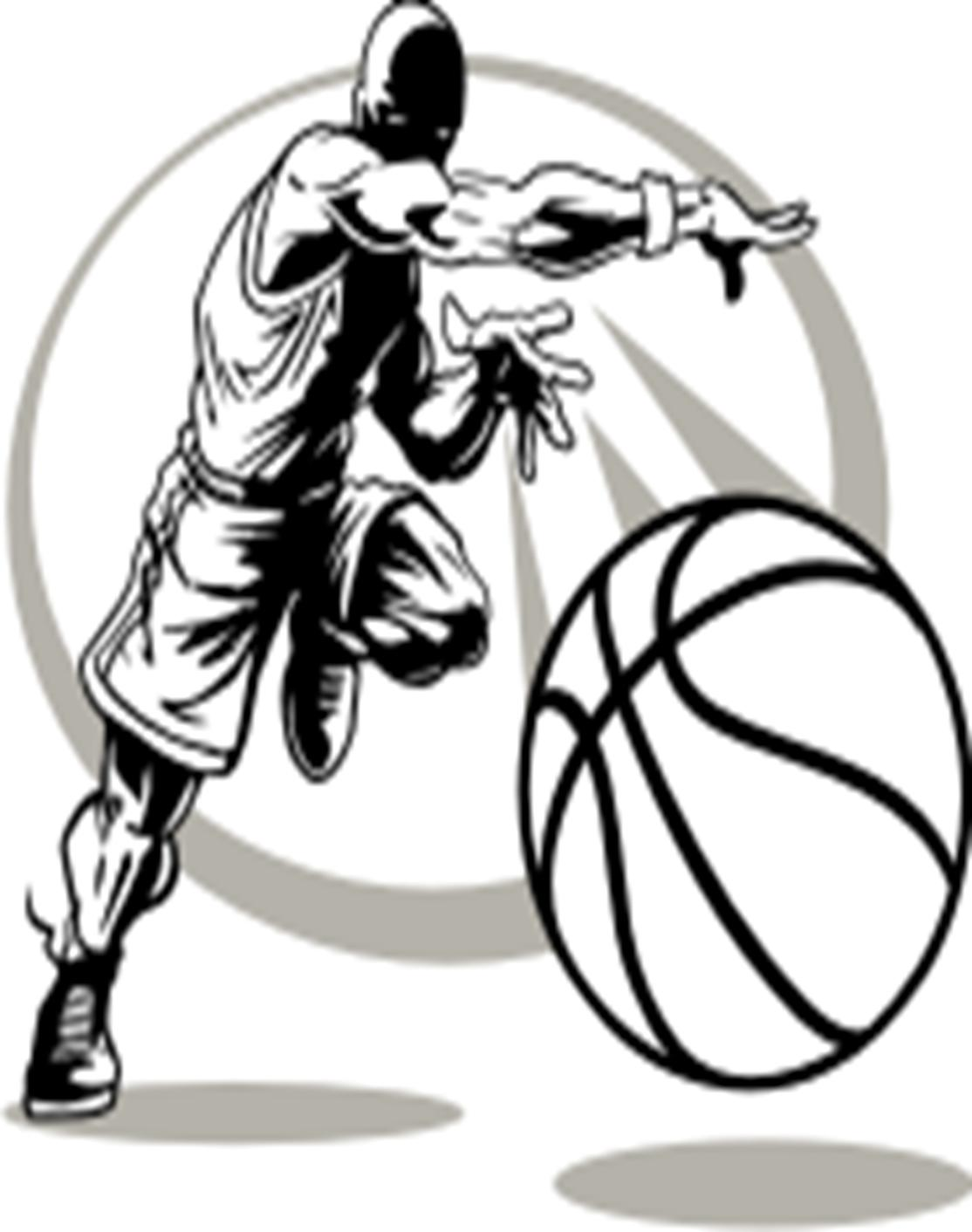 Boys Basketball Clipart Black And White Number 1
