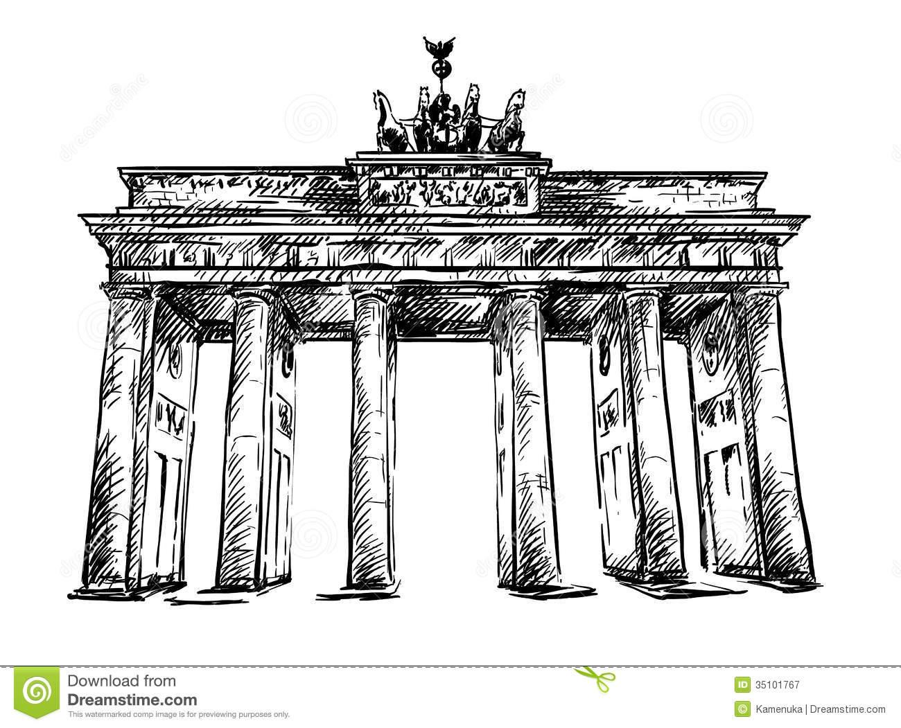 Brandenburg Gate Clipart
