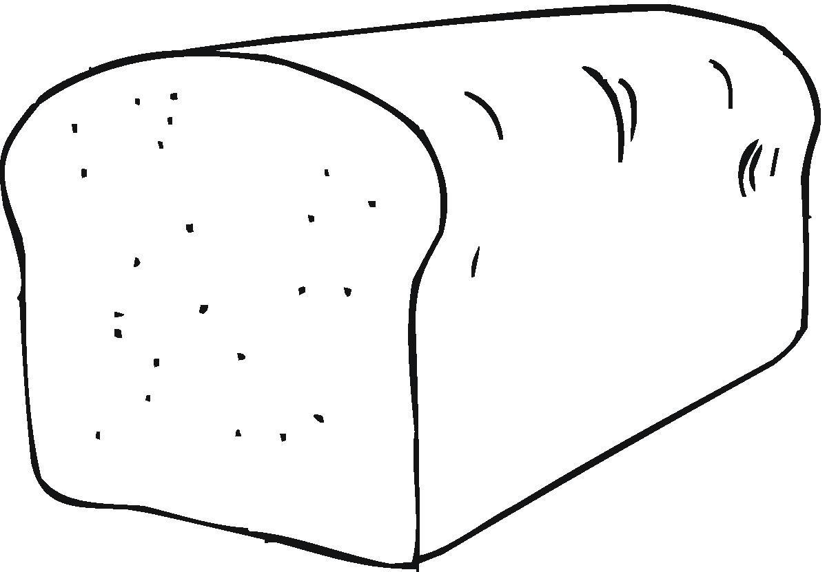 Bread Clipart To Color
