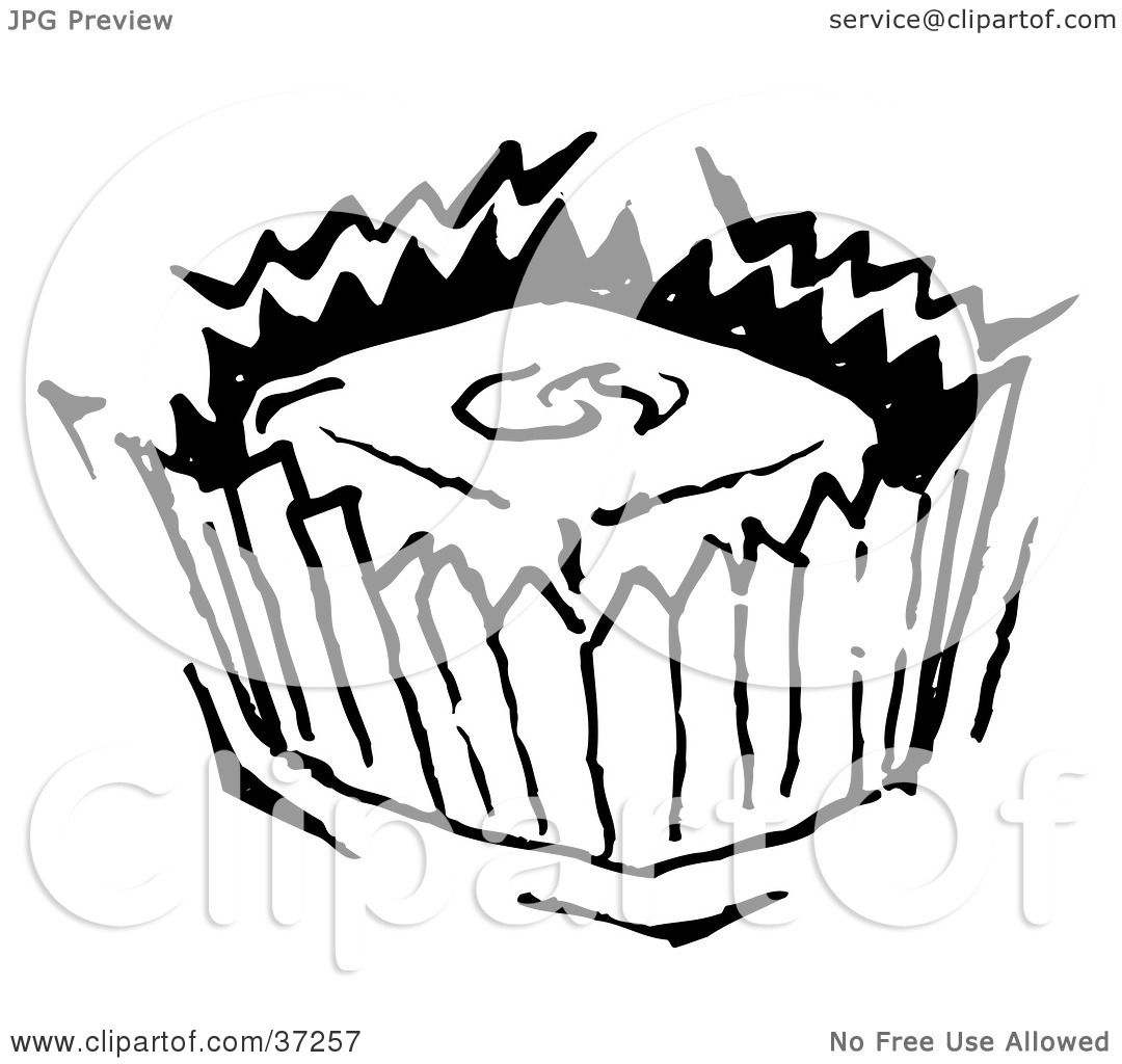 Brownie Clipart Black And White