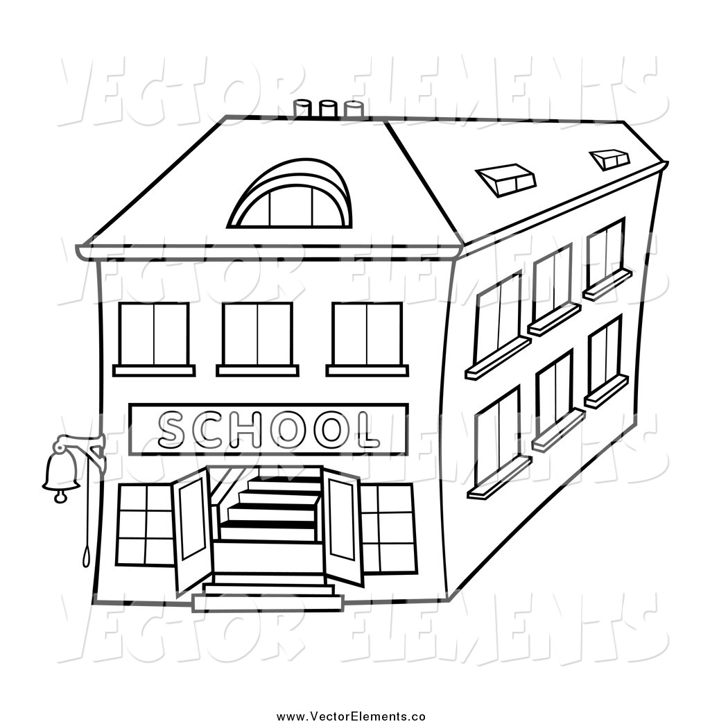 Buildings Outlined Clipart